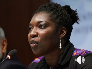 Araba Hammond, de la Iniciativa de Líderes Africanos Jóvenes (YALI), asegura que la deuda estudiantil no suele ser un problema en África. Crédito: Julia Hotz/IPS