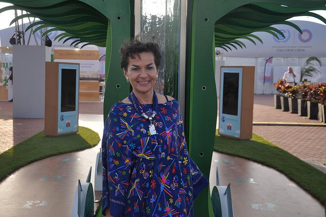 Christiana Figueres, secretaria ejecutiva de la Convención Marco de las Naciones Unidas sobre el Cambio Climático, en las negociaciones de la COP 20 en Lima. Crédito: Desmond Brown/IPS