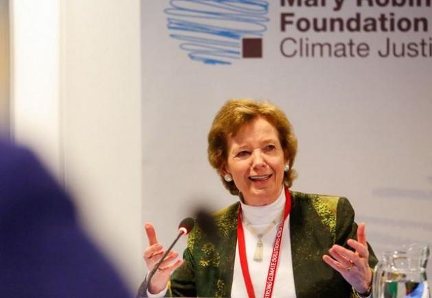 Actualmente Mary Robinson, presidenta de la Fundación Mary Robinson-Justicia Climática. Crédito: Cortesía de la autora
