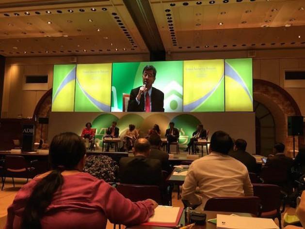 El presidente del Banco de Desarrollo Asiático, Takehiko Nakao, en el Foro de Seguridad Alimentaria en Manila. Crédito: Diana G. Mendoza/IPS.