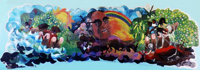 Mural de las víctimas de la violencia armada en El Salvador. Crédito: Félix Meléndez/Pie de Página