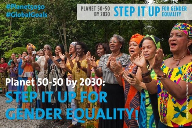 Campaña de la ONU por un planeta 50-50 en 2030.