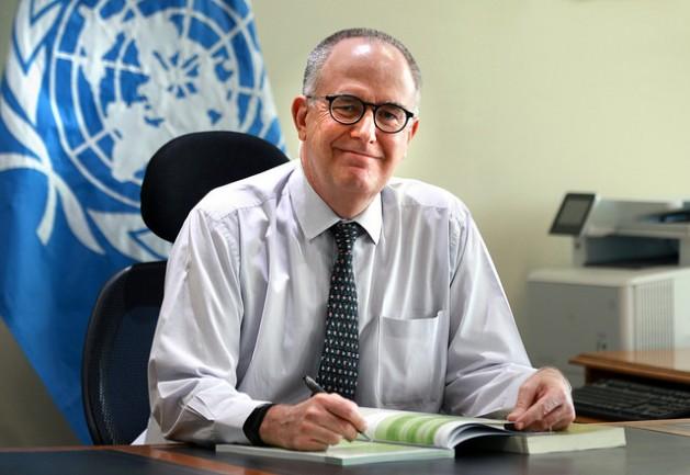 Julio Berdergué, representante regional de la FAO para América Latina y el Caribe, en su despacho en Santiago de Chile. Crédito: Maximiliano Valencia/FAO
