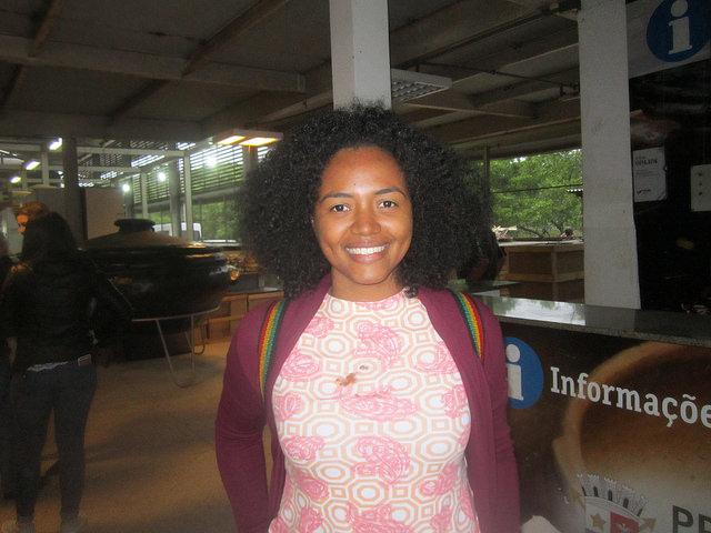 Gilda Montenegro, nutricionista del Ministerio de Educación de Panamá, quien conoció la experiencia de la alimentación escolar en Vitoria, Brasil, junto con otros 22 representantes de 12 países latinoamericanos y caribeños, en una visita técnica promovida por la FAO. Crédito: Mario Osava/IPS