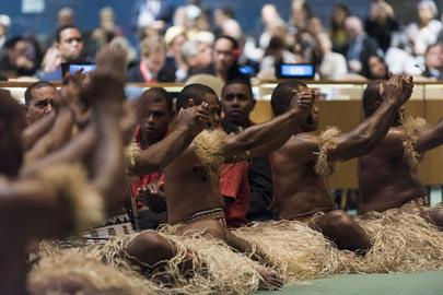 Ceremonia de apertura de la Conferencia sobre los Océanos, del 5 al 9 de junio de 2017, en Nueva York. Crédito: Mark Garten/UN Photo.
