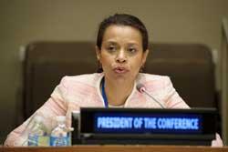 Elayne Whyte Gómez, representante permanente de Costa Rica. Crédito: UN Photo/Manuel Elias.