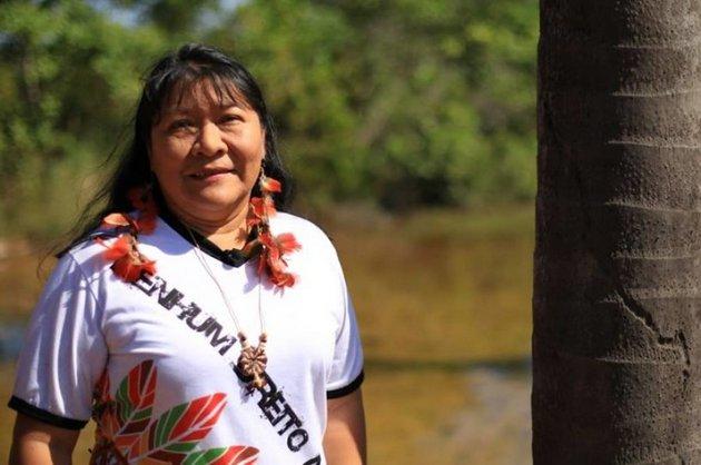 Joenia Wapichana, la primera diputada indígena que tendrá Brasil, elegida por el estado amazónico de Roraima, en el extremo norte de Brasil. Crédito: Joenia Wapichana/Facebook