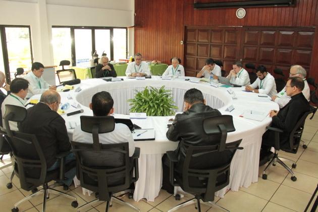 Sesión de la mesa del diálogo en Nicaragua, que se instaló el 27 de febrero, integrada por funcionarios del gobierno y opositores integrados en la Alianza Cívica por la Justicia y la Democracia. Crédito: Cortesía de Alianza Cívica
