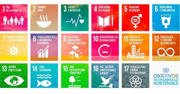 Los 17 Objetivos de Desarrollo Sostenible (ODS) en que las regiones y países trabajan desde el comienzo de 2016, con el objetivo de alcanzar sus 169 metas específicas para 2030. Crédito: ONU