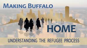 Una de las imágenes que forman parte de la campaña de la ciudad estadounidense de Búfalo para promoverse como tierra de acogida para las personas refugiadas. Crédito: Alcaldía de Búfalo