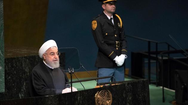 El presidente de Irán, Hassan Rouhani, durante su intervención ante la Asamblea General de las Naciones Unidas, el 25 de septiembre de 2018. Crédito: ONU