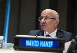 Navid Hanif, director de la Oficina de Financiación para el Desarrollo Sostenible de la ONU. Crédito: ONU