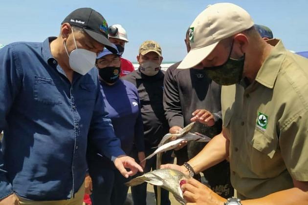 El ministro Oswaldo Barbera ha insistido en que no hay afectación ambiental. Foto: Ministerio de Ecosocialismo de Venezuela
