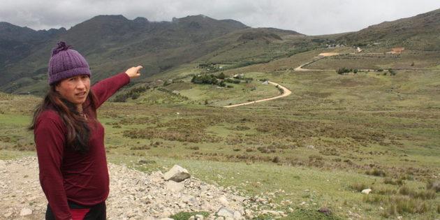 La mina de Junefield Ecuagoldmining, en lo alto del macizo del Cajas, ha generado un agudo conflicto entre comunidades locales, empresa y gobierno. Foto: Andrés Bermúdez Liévano