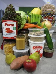 Una selección de los productos presupuestados en los cupones alimentarios. Crédito: Miss Karen/cc by 2.0