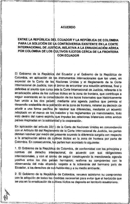Acuerdo Colombia-Ecuador