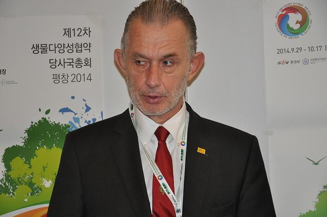 Director de la Red Internacional del Bambú y el Ratán (INBAR), Hans Friederich. Crédito: Desmond Brown/IPS