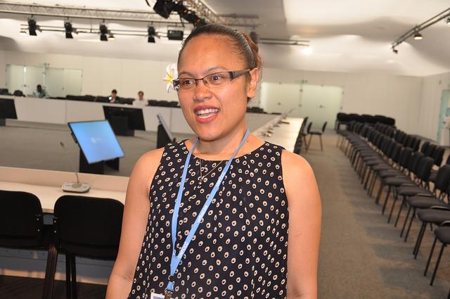 """Ngedikes """"Olai"""" Uludong, de la Alianza de Pequeños Estados Insulares (AOSIS), presente en la COP 20 en Lima. Crédito: Desmond Brown/IPS"""