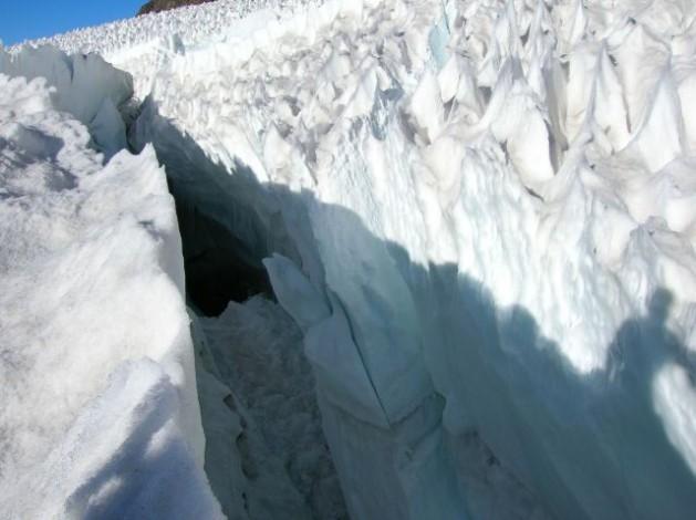 Glaciar de El Morado, ubicado en la cordillera de Los Andes, en la zona central de Chile. Crédito: Orlando Ruz/IPS