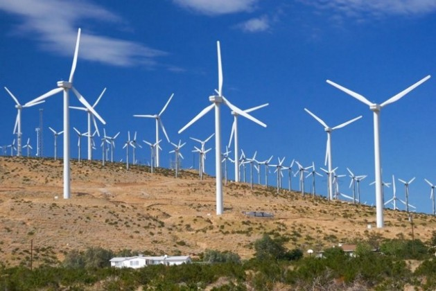 Parque de energía eólica en México.