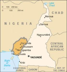 Mapa donde se destaca la ubicación de Camerún Meridional. Crédito: dominio público