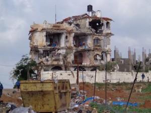 La destrucción en Gaza tras el conflicto armado de 2014 entre Hamás e Israel. Crédito: Mel Frykberg
