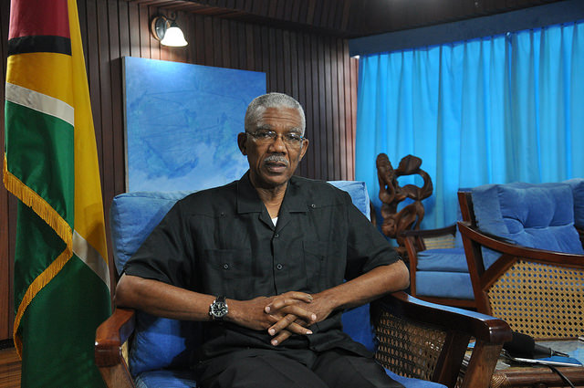 Presidente de Guyana, David Granger. Crédito: Desmond Brown/IPS