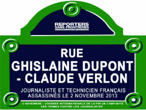 Reporteros Sin Fronteras cambió el nombre de 12 calles de París en honor a periodistas que fueron víctimas de crímenes.