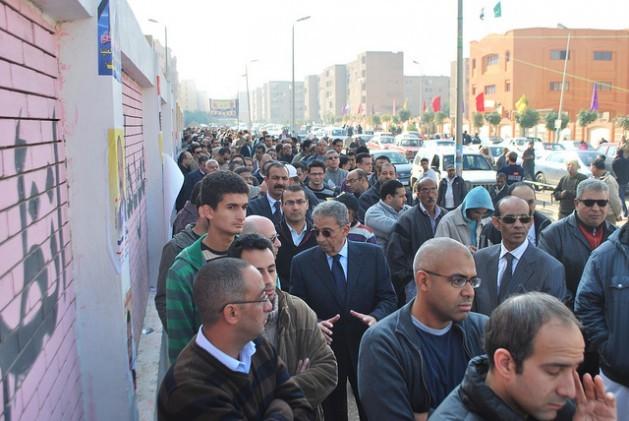 En fila para votar en El Cairo. Crédito: Khaled Moussa al Omrani / IPS.