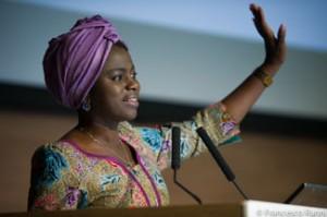 Evelyn Nguleka, presidenta de la Organización Mundial de Agricultores.
