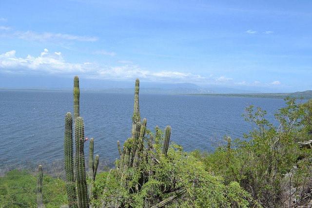 Vista del mar Caribe, en República Dominicana, cerca de la frontera con Haití en la isla de La Española,  que comparten los dos países. Las cerca de 7.000 islas caribeñas guardan miles de especies endémicas, cuya preservación se complica por el cambio climático. Crédito: Dionny Matos/IPS