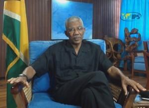 Presidente de Guyana, David Granger. Crédito: Desmond Wilson.