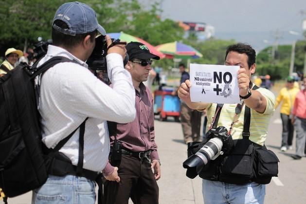 En 2015 hubo 112 trabajadores de medios de comunicación asesinados en el ejercicio de su profesión. Crédito: Thelma Mejía/IPS