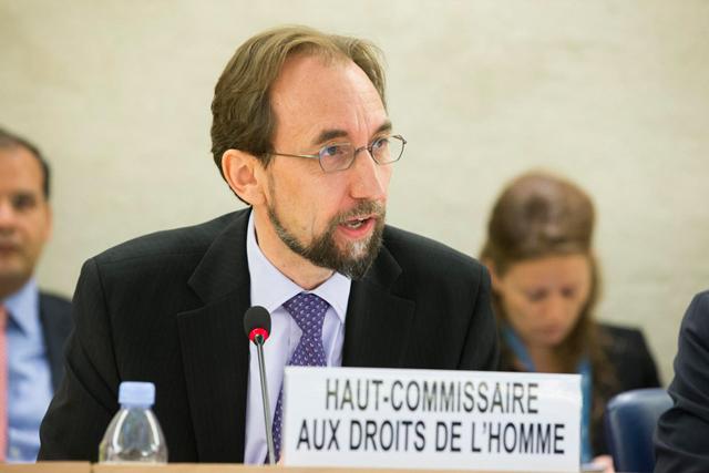 Alto Comisionado para los Derechos Humanos, Zeid Ra'ad Al Hussein. Crédito: Pierre Albouy/ONU.