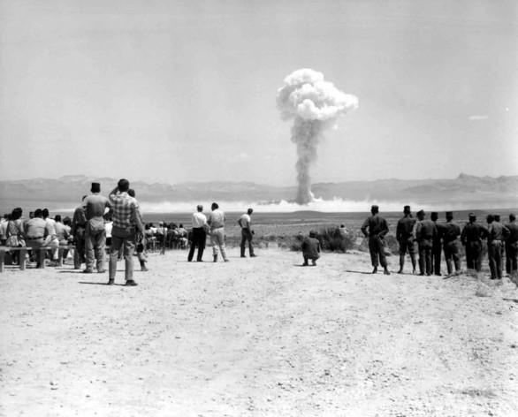 Ensayo nuclear de Estados Unidos el 14 de julio de 1962, conocidas como Operación Sunbeam, en el sitio de pruebas de Nevada. Crédito: Departamento de Energía de Estados Unidos.