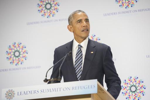 El presidente de Estados Unidos, Barack Obama, se dirige a los participantes de la reunión de líderes sobre refugiados, que organizó en el marco de la Asamblea General de la ONU, en septiembre de 2016. Crédito: Rick Bajornas/UN Photo.