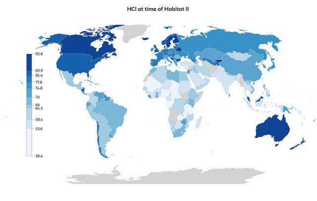 Desde que se realizó la Primera Conferencia de Hábitat, en Vancouver en 1976, el mundo solo cumplió 70 por ciento de los compromisos adoptados en las dos cumbres realizadas. El progreso prácticamente se estancó desde la celebración de Hábitat II, en Estambul. Crédito: HCI
