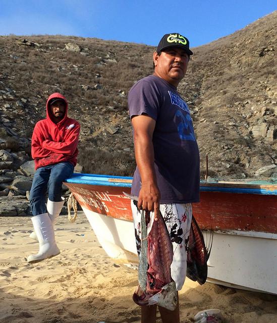 El pescador Francisco Javier Torres, de la cooperativa Punta Lobos. Crédito: Celia Guerrero/Pie de Página