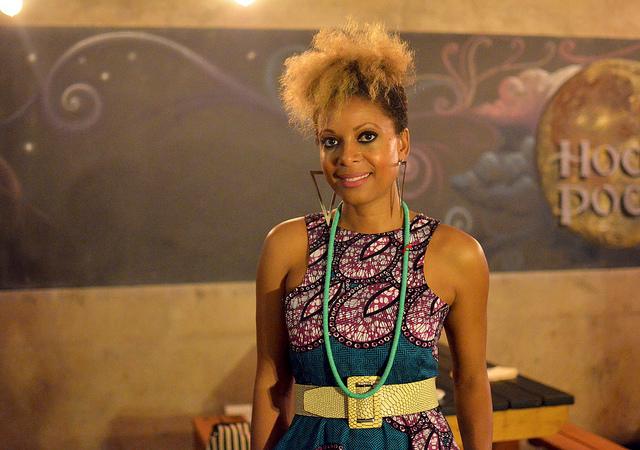 """Nefertite Nguvu, directora del largometraje """"In the Morning"""", presentado en el Festival de Cine Africano HER realizado en octubre de 2016, en Sudáfrica. Crédito: Mark Olalde/IPS."""