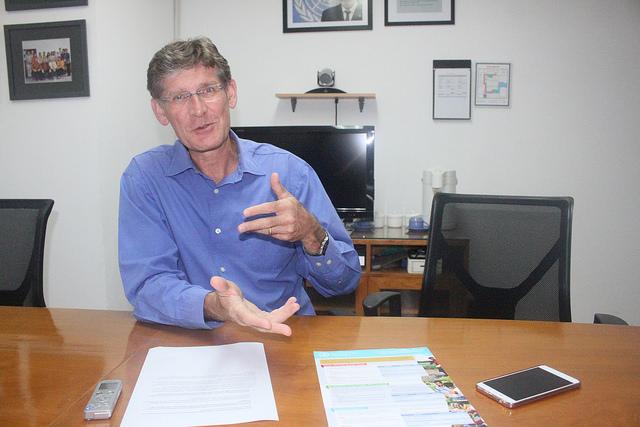 Mark Smulders, representante de la FAO para Indonesia y Timor Oriental. Crédito: Kanis Dursin / IPS