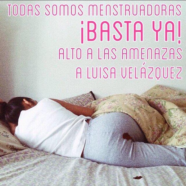 """Las amenazas virtuales llevaron a Luisa a cerrar las cuentas de """"Menstruadora"""", abandonando su activismo en redes sociales. Crédito: Redes sociales"""