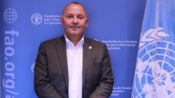 Mehdi Drissi, coordinador del Área de Movilización de Recursos de la Oficina Regional para América Latina y el Caribe de la FAO, con sede en Santiago de Chile. Crédito: FAO