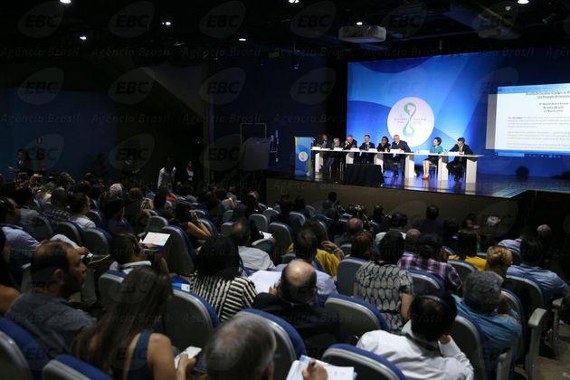 La inauguración y debates del octavo Foro Mundial del Agua comenzaron el lunes 19 de marzo el Centro de Convenciones Ulysses Guimarães de la capital de Brasil. Crédito: EBC