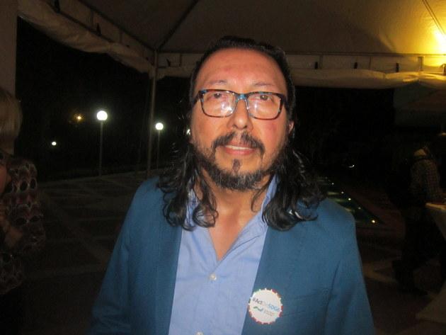 El chileno Aldo Palacios, quien preside GWP Sudamérica, durante su participación en el lanzamiento de la Acción por el ODS 6, que la Asociación Mundial para el Agua (GWP) realizó em Brasilia, en el marco del octavo Foro Mundial del Agua. Crédito: Mario Osava/IPS