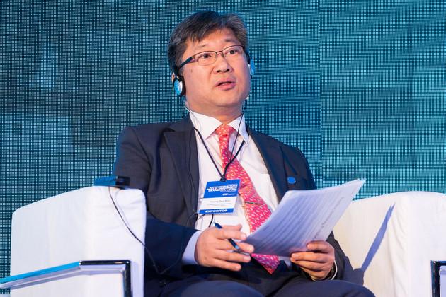 Uno de los invitados ajenos a la región a la Conferencia sobre Infraestructura para el Desarrollo de América Latina, el coreano Young Tae Kim, secretario general del Foro Internacional de Transporte, organización intergubernamental de la OCDE que reúne 59 países, de los cuales 44 son europeos. Crédito: CAF