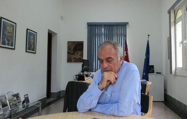 Alberto Navarro, embajador de La Unión Europea ante La Habana, durante una entrevista exclusiva con IPS en la delegación del bloque europeo en la capital de Cuba. Crédito: Cortesía de la UE/Cuba