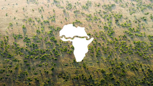 El ícono de la Gran Muralla Verde muestra el recorrido de la misma. Crédito: Greatgreenwall.org
