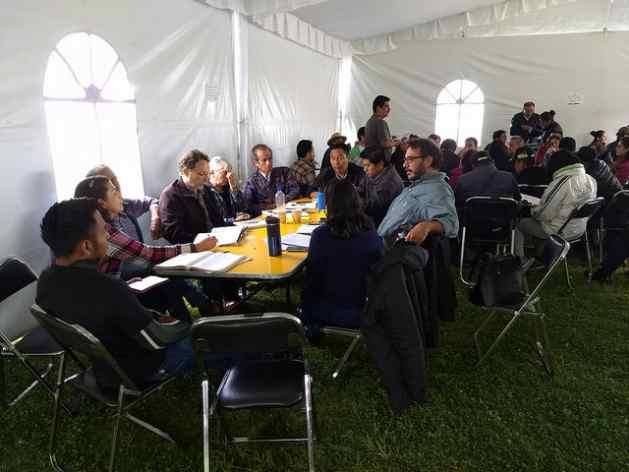 Durante dos días, representantes de 51 organizaciones gubernamentales  de México debatieron sobre medidas para defender el agua, en un encuentro  en el municipio de Tlalmanalco, en el estado de México, en el centro-sur del país. Crédito: Emilio Godoy/IPS