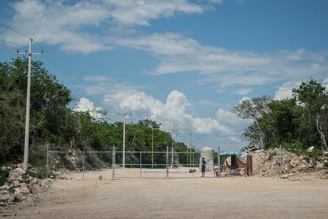 Terreno donde se proyecta construir la granja porcina. Crédito: Ximena Natera/Pie de Página