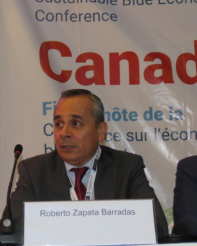 Roberto Zapata Barradas, presidente del Grupo de Negociación de Reglas de la OMC, y embajador y representante permanente de México en la organización, comentó que las negociaciones buscan eliminar los subsidios que contribuyen a la pesca ilegal, no declarada y no reglamentada, y que es necesario llegar a un acuerdo en diciembre de 2018. Crédito: Busani Bafana/IPS.